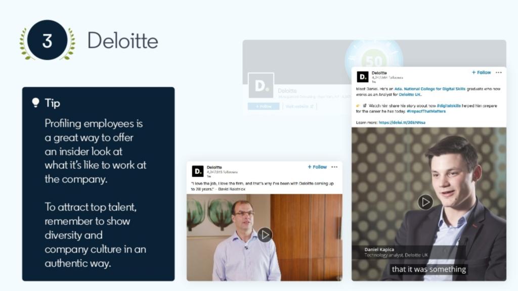 migliori pagine linkedin 2019 Deloitte